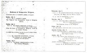 Scanned image of conference program