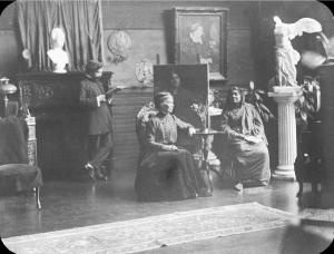 Sarah Bull with Mr. and Mrs, J. C. Bose of India, about 1910