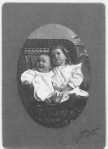 David Miller at age 1 and Dorothy Vaughn at age 2