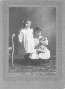 Dorothy Vaughn at age 4 and David Miller Vaughn at age 3